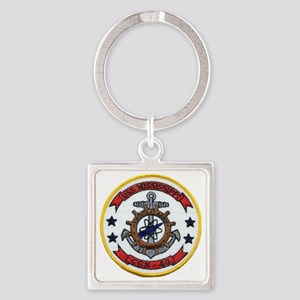 uss mississippi patch transparent Square Keychain
