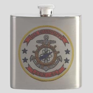 uss mississippi patch transparent Flask