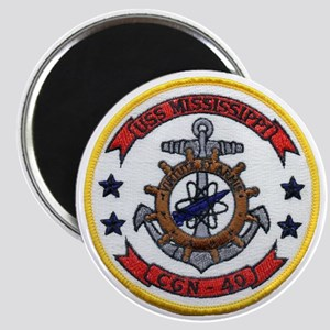 uss mississippi patch transparent Magnet