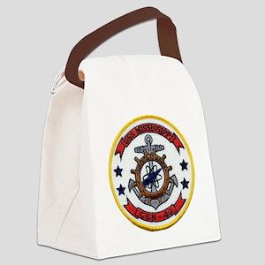 uss mississippi patch transparent Canvas Lunch Bag