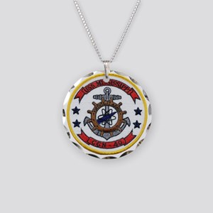uss mississippi patch transp Necklace Circle Charm
