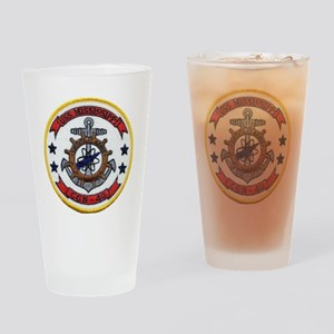 uss mississippi patch transparent Drinking Glass