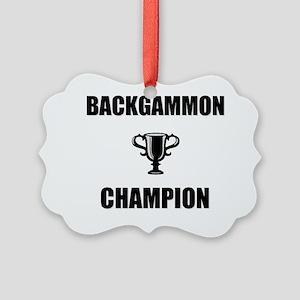 backgammon champ Picture Ornament