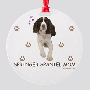 Springer Spaniel Mom Round Ornament