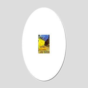 ttotncia_twin_duvet 20x12 Oval Wall Decal