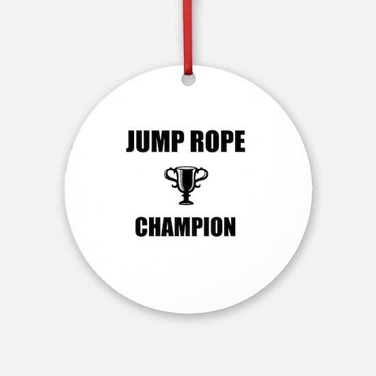 jump rope champ Round Ornament
