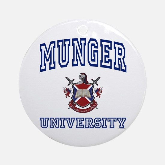 MUNGER University Ornament (Round)