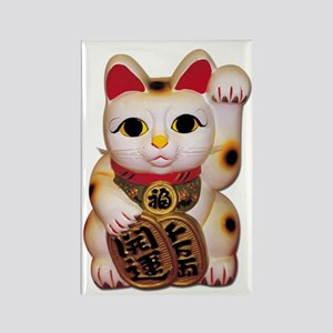 Lucky Cat Rectangle Magnet
