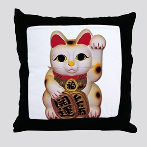 Lucky Cat Throw Pillow