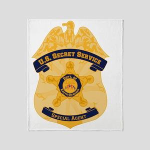 XXX Secret Service Badge Throw Blanket