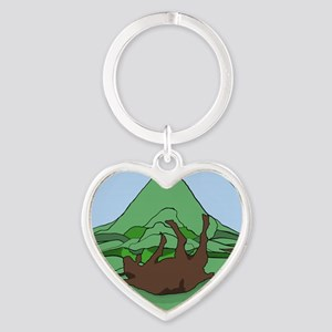 Simple South Mountain MGR logo Heart Keychain