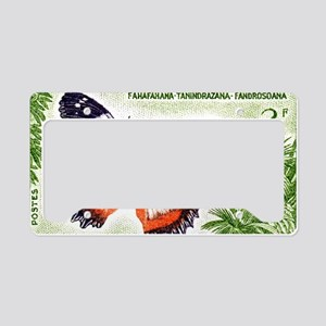 Madagascar Butterfly 3f Stamp License Plate Holder