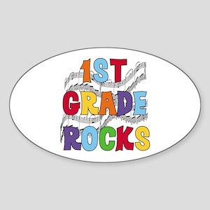 Bright Colors 1st Grade Oval Sticker