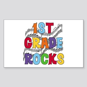 Bright Colors 1st Grade Rectangle Sticker