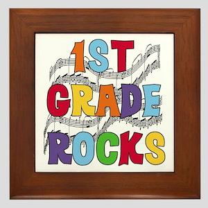 Bright Colors 1st Grade Framed Tile