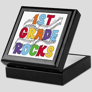 Bright Colors 1st Grade Keepsake Box