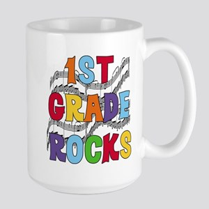 Bright Colors 1st Grade Large Mug