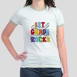Bright Colors 1st Grade Jr. Ringer T-Shirt