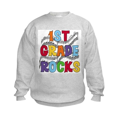 Bright Colors 1st Grade Kids Sweatshirt