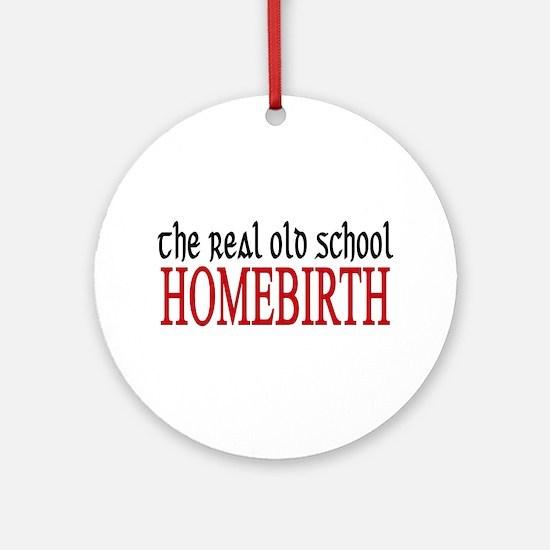 old school home birth Ornament (Round)