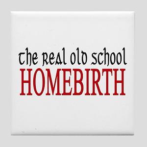 old school home birth Tile Coaster