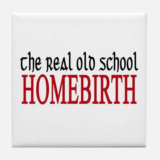 old school home birth Tile Coaster