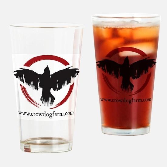 Crow Dog Farm Crow Drinking Glass