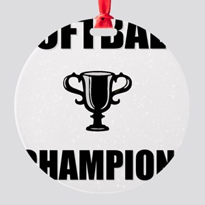softball champ Round Ornament