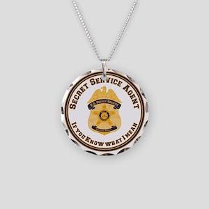 The XXX SecretService Necklace Circle Charm