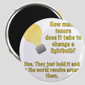 Tenor lightbulb joke. Magnet