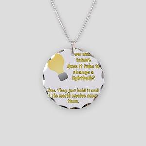 Tenor lightbulb joke. Necklace Circle Charm