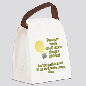 Tenor lightbulb joke. Canvas Lunch Bag