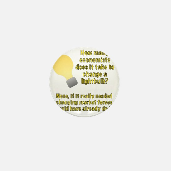 Economist lightbulb joke Mini Button