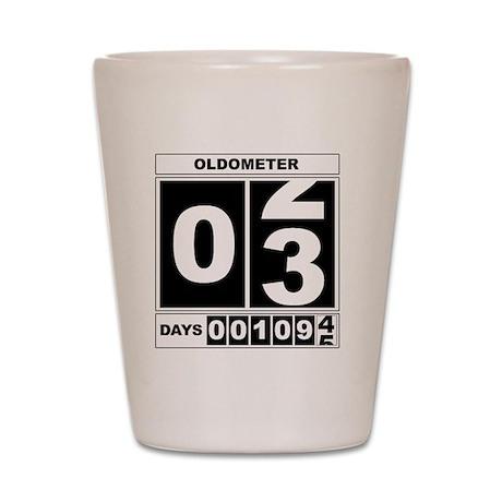 3rd Birthday Oldometer Shot Glass