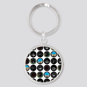 instruments_fabric_clear Round Keychain