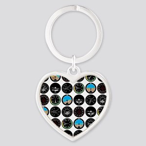 instruments_fabric_clear Heart Keychain