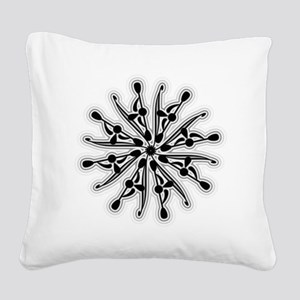 Kayak White Water BW Square Canvas Pillow