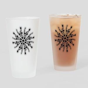 Kayak White Water BW Drinking Glass