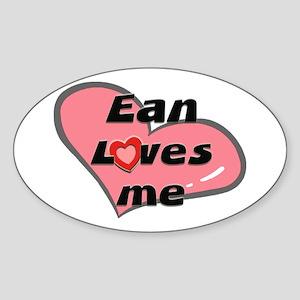 ean loves me Oval Sticker