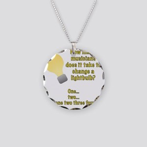 Musician lightbulb joke Necklace Circle Charm