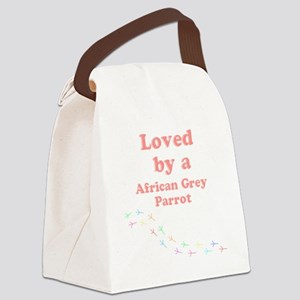 Loved by aAfrican Grey Parrot Canvas Lunch Bag