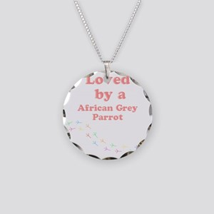Loved by aAfrican Grey Parro Necklace Circle Charm