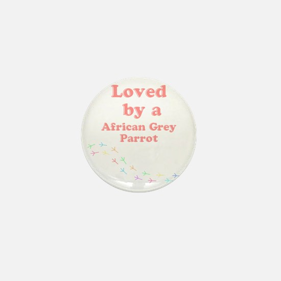 Loved by aAfrican Grey Parrot Mini Button