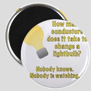 Conductor lightbulb joke Magnet