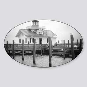 Manteo Lighthouse  Holga Sticker (Oval)