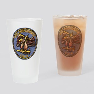 uss providence patch transparent Drinking Glass