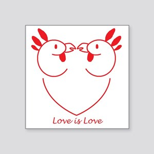 "Chicks in Love: Boycott Chi Square Sticker 3"" x 3"""