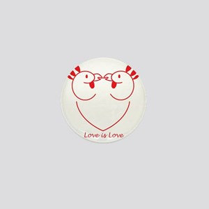 Chicks in Love: Boycott Chick Fil A Mini Button