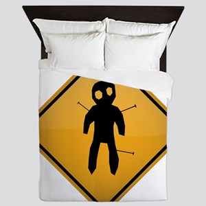 Voodoo Warning Sign Queen Duvet