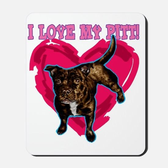 love my pitt Mousepad